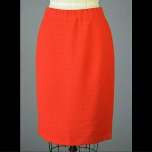 St. John Collection Santana Knit Red Pencil Skirt